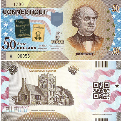 Picture of US State Dollar,5th State ,Connecticut,50 State Dollars