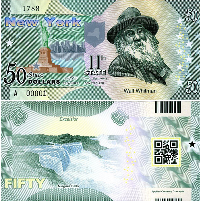 Ebanknoteshop  US State Dollar,11th State ,New York,50 State