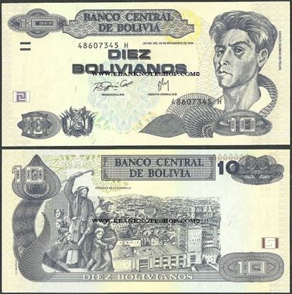 Picture of Bolivia,P233,10 Bolivianos,Serie H
