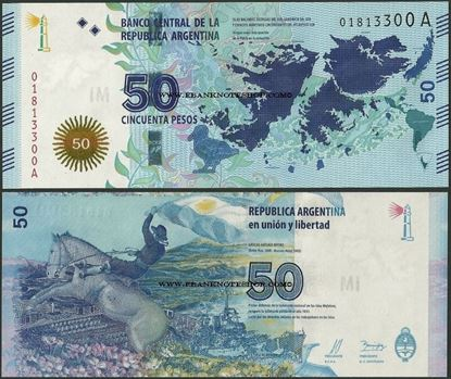 Picture of Argentina,P362,B414,50 Pesos,2015,Falklands,Comm
