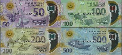 Picture of Mauritania,4 NOTE SET ,850 New Ouguiya,2017