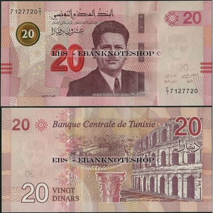 Picture of Tunisia,P97,B537,20 Dinars,2017