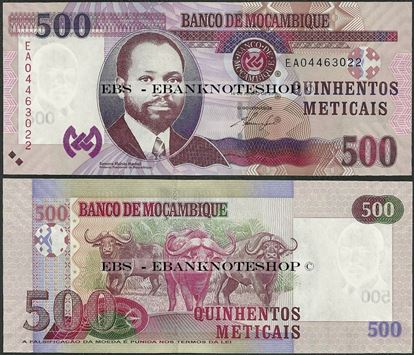 Picture of Mozambique,P153,B238a,500 Meticais,2011