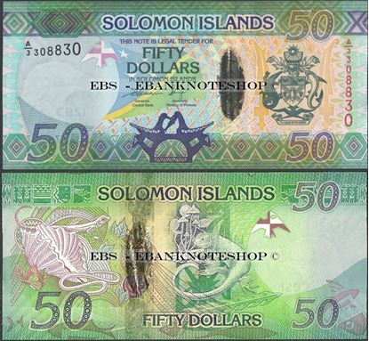 Picture of Solomon Islands,P35,B224,50 Dollars,2013,A/3
