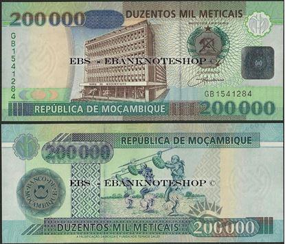 Picture of Mozambique,P141a,B226,200000 Meticais,2003