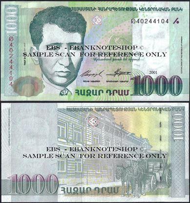 Picture of Armenia,P50b,B310b,1000 Dram,2001
