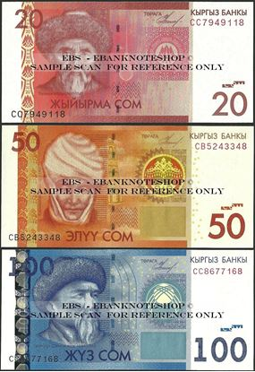 Picture of Kyrgyzstan,3 NOTE SET,P24-P26,170 Som,2009