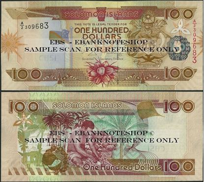 Picture of Solomon Islands,P30,B220b,100 Dollars,A/2,2009