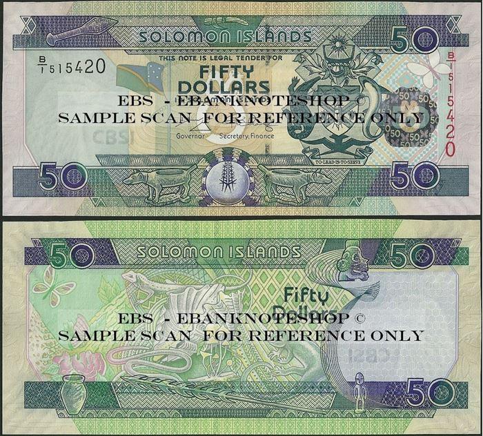 Picture of Solomon Islands,P29,B219b,50 Dollars,B/1,2007