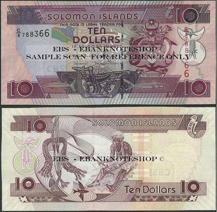 Picture of Solomon Islands,P27,B217c,10 Dollars,C/8