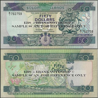 Picture of Solomon Islands,P17,B207a,50 Dollars,1986,B/1