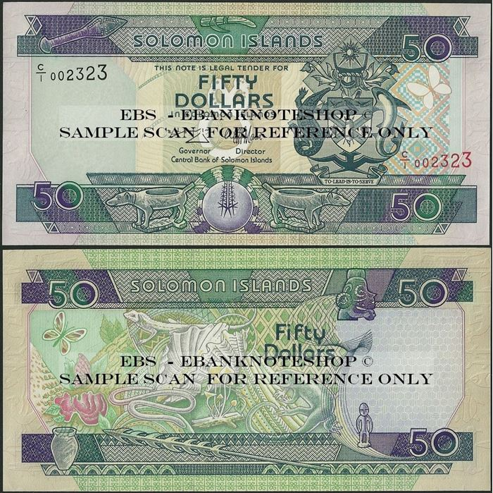 Picture of Solomon Islands,P22,B212a,50 Dollars,C/1