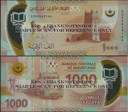 Picture of Mauritania,P26,B130,1000 New Ouguiya,2017