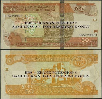 Picture of Ethiopia,P51,B333f,50 Birr,2012