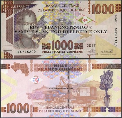 Picture of Guinea,P48,B340b,1000 Francs,2017