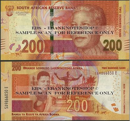 Picture of South Africa,PNL,B776a,200 Rands,2018