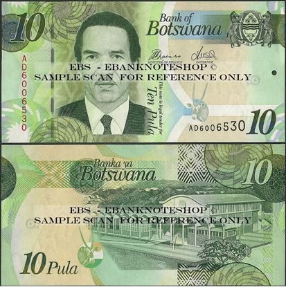 Picture of Botswana,P30,B124d,10 Pula,2014