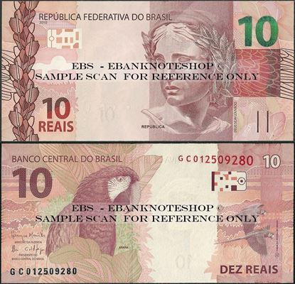 Picture of Brazil,P254,B876c,10 Reais,2010,Sg 32
