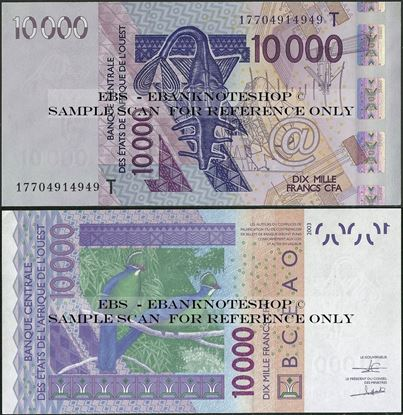 Picture of WAS T Togo,P818T, B124Tq,10000 Francs,2017