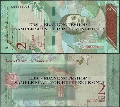 Picture of Venezuela,P101,B371a,2 Bolívar Soberano, 2018,