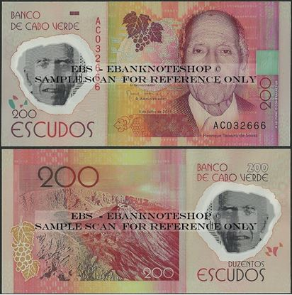 Picture of Cape Verde,P71,B217,200 Escudos,2014