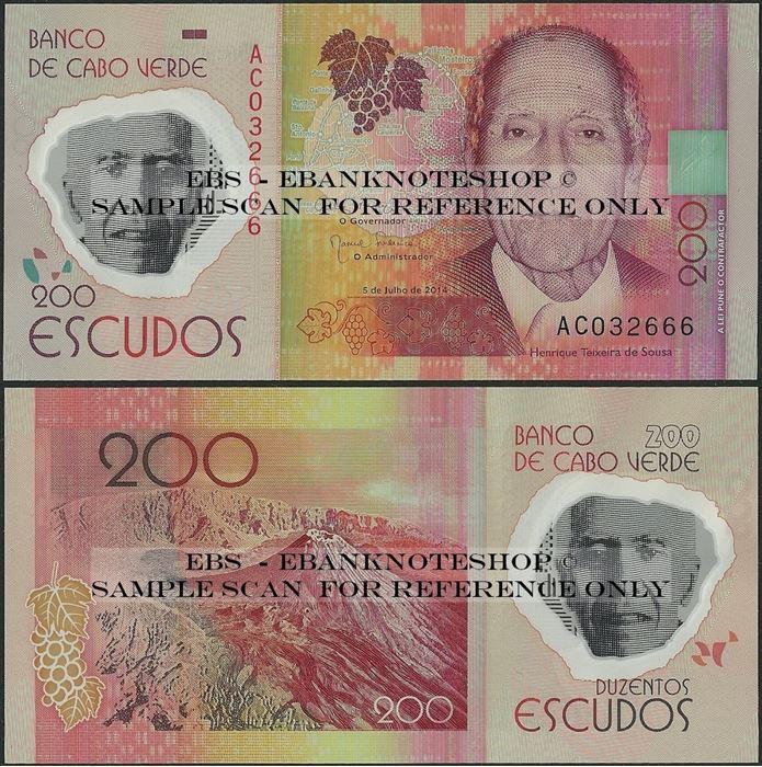 Picture of Cape Verde,P71,B217,200 Escudos,2014
