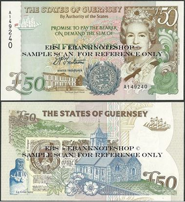 Picture of Guernsey, P59,B164a,50 Pounds