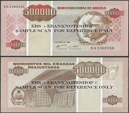 Picture of Angola,P140, B531,500 000 Kwanza Reajustados,1995