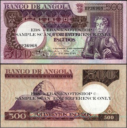 Picture of Angola,P107, B431,500 Escudos,1973,AUNC/XF