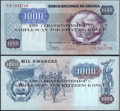 Picture of Angola,P121,B513,1000 Kwanzas,1987