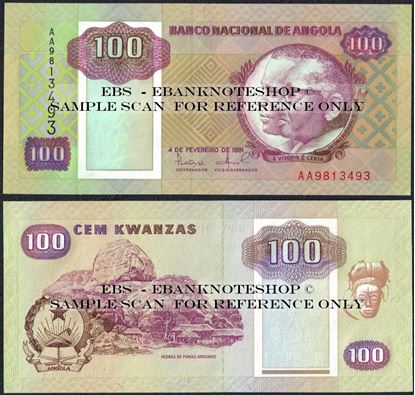 Picture of Angola,P126,B517,100 Kwanzas,1991