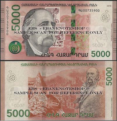 Picture of Armenia,B321a,5000 Dram,2018