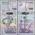 Picture of Bermuda,P59,B232a,10 Dollars,2009,Onion Prefix