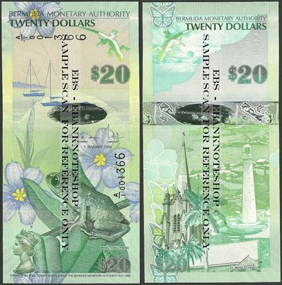 Picture of Bermuda,P60,B233b,20 Dollars,2009,A/1