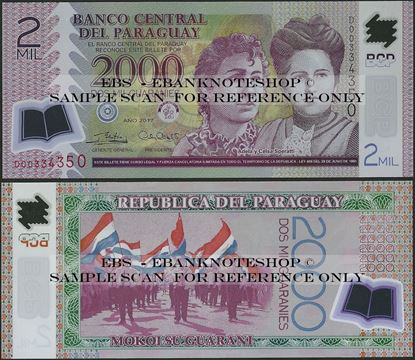 Picture of Paraguay,P228,B846d,2000 Guarani,2017,Polymer