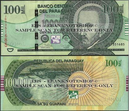 Picture of Paraguay,P240,B864c,100 000 Guarani,2018,Series J