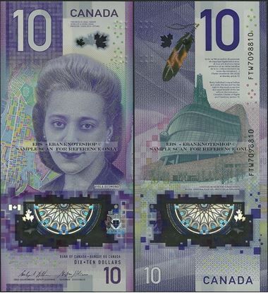 Picture of Canada,B379,PNL,10 Dollars,2018,Polymer