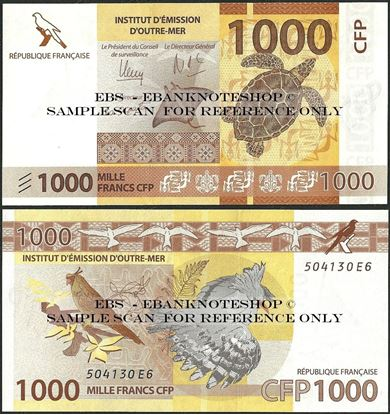 Picture of French Pacific,P6,B106,1000 Francs,2014