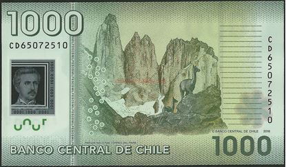 Picture of Chile,P161,B296g,1000 Pesos,2016
