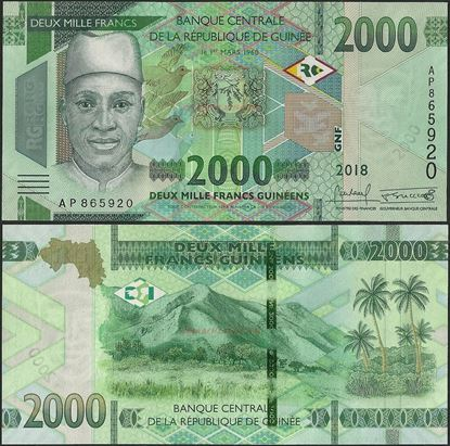 Picture of Guinea,B342,2000 Francs,2019