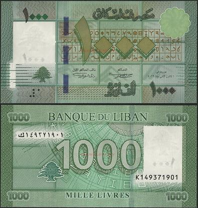 Picture of Lebanon,P90,B540,1000 Livres,2016