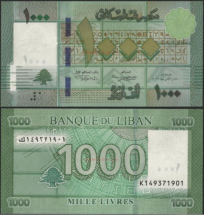 Picture of Lebanon,P90,B540,1000 Livres,2016