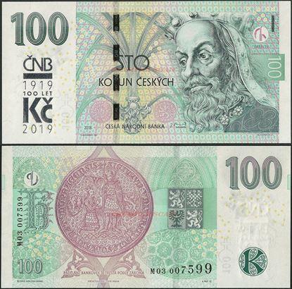 Picture of Czech Republic,B129,100 Korun,2019,Comm