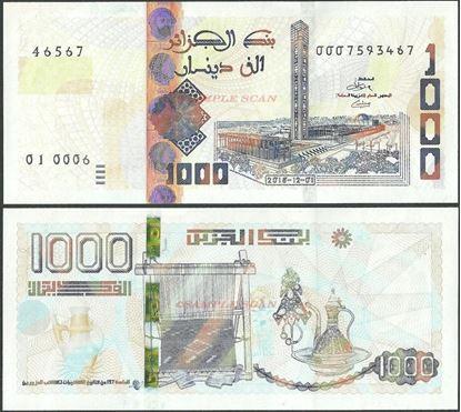 Picture of Algeria,B411,1000 Dinars,2018
