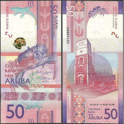 Picture of Aruba,B123,50 Florin,2019