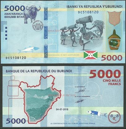 Picture of Burundi,B239b,5000 Francs,2018