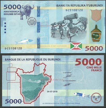 Picture of Burundi,B239b,5000 Francs,2018