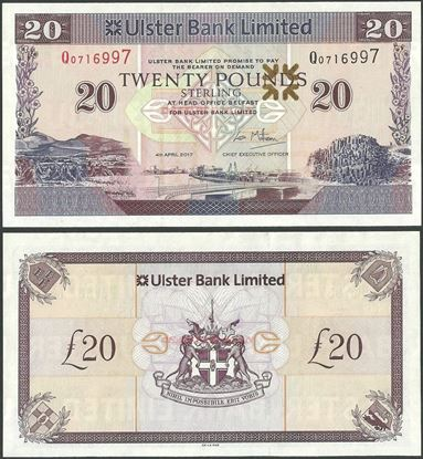 Picture of Northern Ireland,P342h,B938h,20 Pounds,2017,Ulster,Sg 10,Prefix P