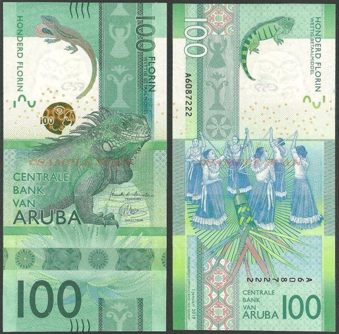ARUBA ISLAND 20 SHILLING 2018,UNC QUEEN ELIZABETH II,