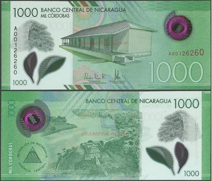 Picture of Nicaragua,PNL,B515,1000 Cordobas,2017 (In 2019)
